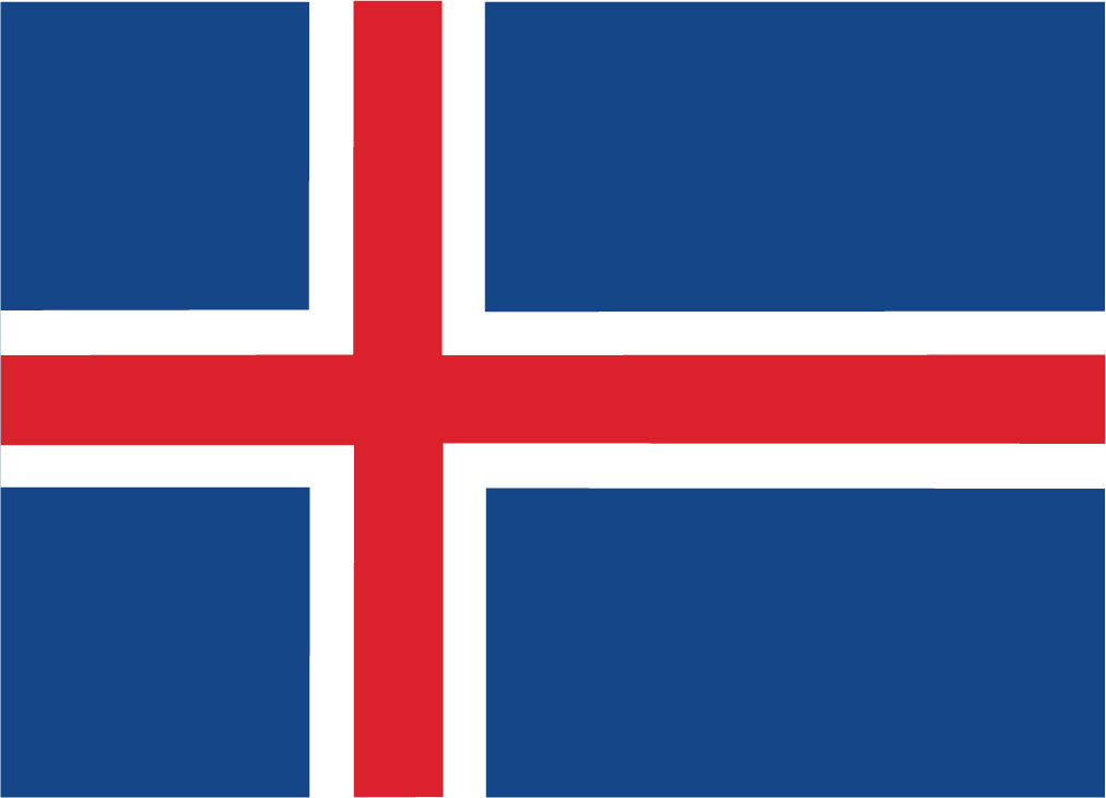 Iceland (flag from Norden.org, CC BY-NC-SA 4.0)