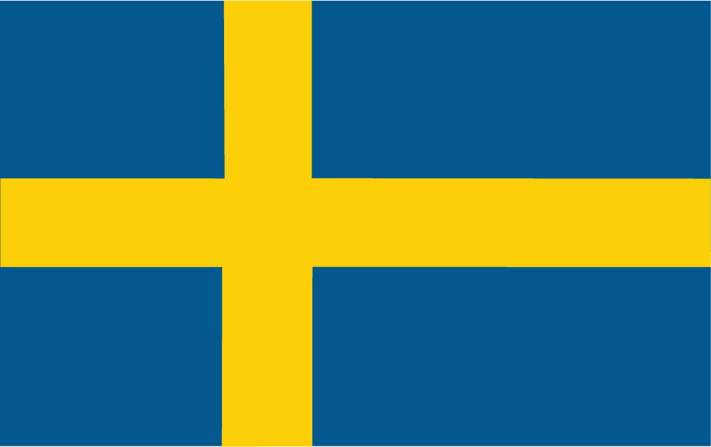 Sweden (flag from Norden.org, CC BY-NC-SA 4.0)